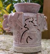 Speckstein Aromalampe, Elefant, 3 tlg.