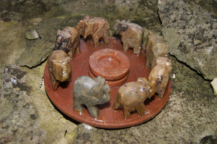 Elefantenkreis (8er) Speckstein